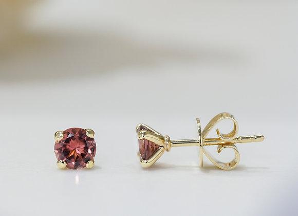 Red Tourmaline Studs Earrings