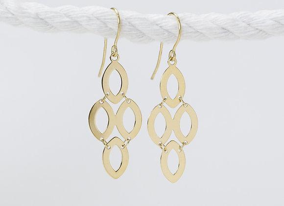Chandelier Yellow Gold Earrings