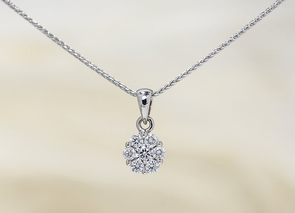 Diamond Flora Necklace