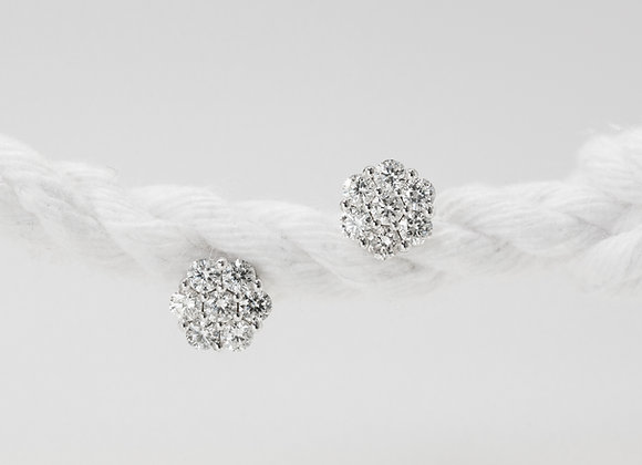 Anthea Diamond Cluster Earrings