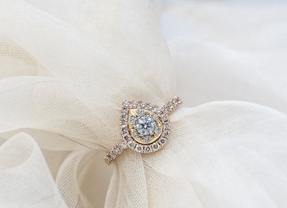 Dreamtime Rose Gold Pear Shape Ring