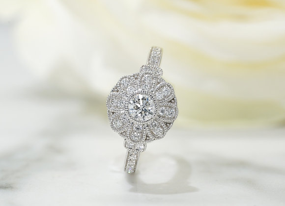 Sunflower Diamond Dress Ring