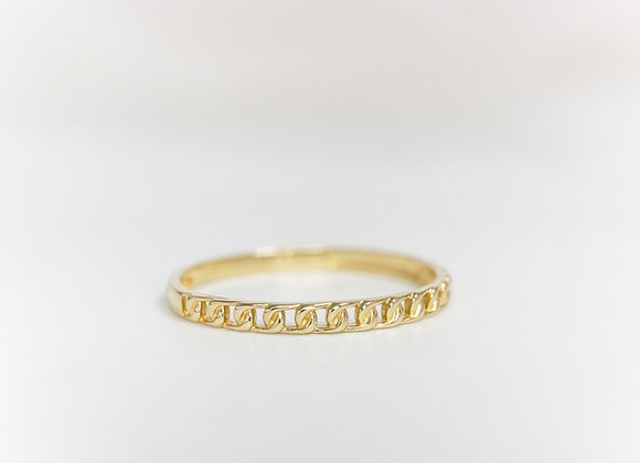 Chain Ring in Yellow Gold