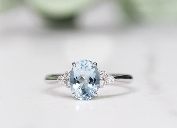 Aqua Moirai Ring