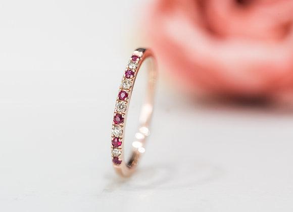 Bell' Ruby & Diamond Ring