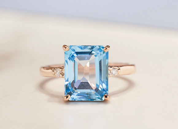 Alana Topaz and Diamond Ring