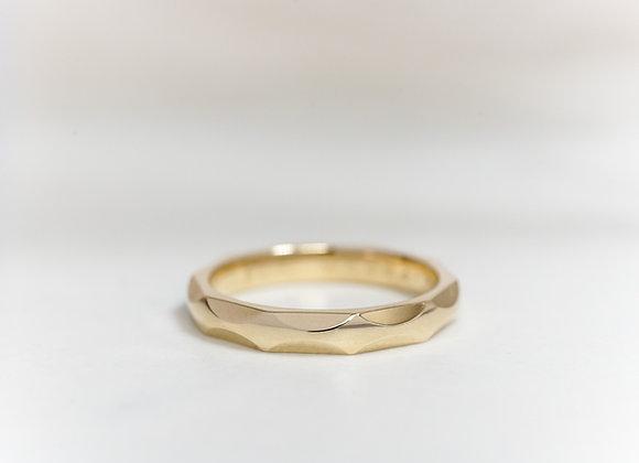 Yellow Gold Facet Ring