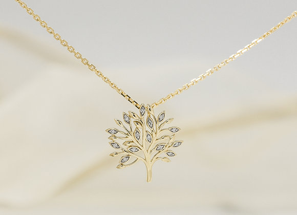 Diamond Tree Pendant