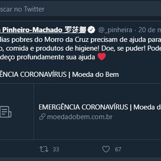 Tweet da Rosana Pinheiro Machado