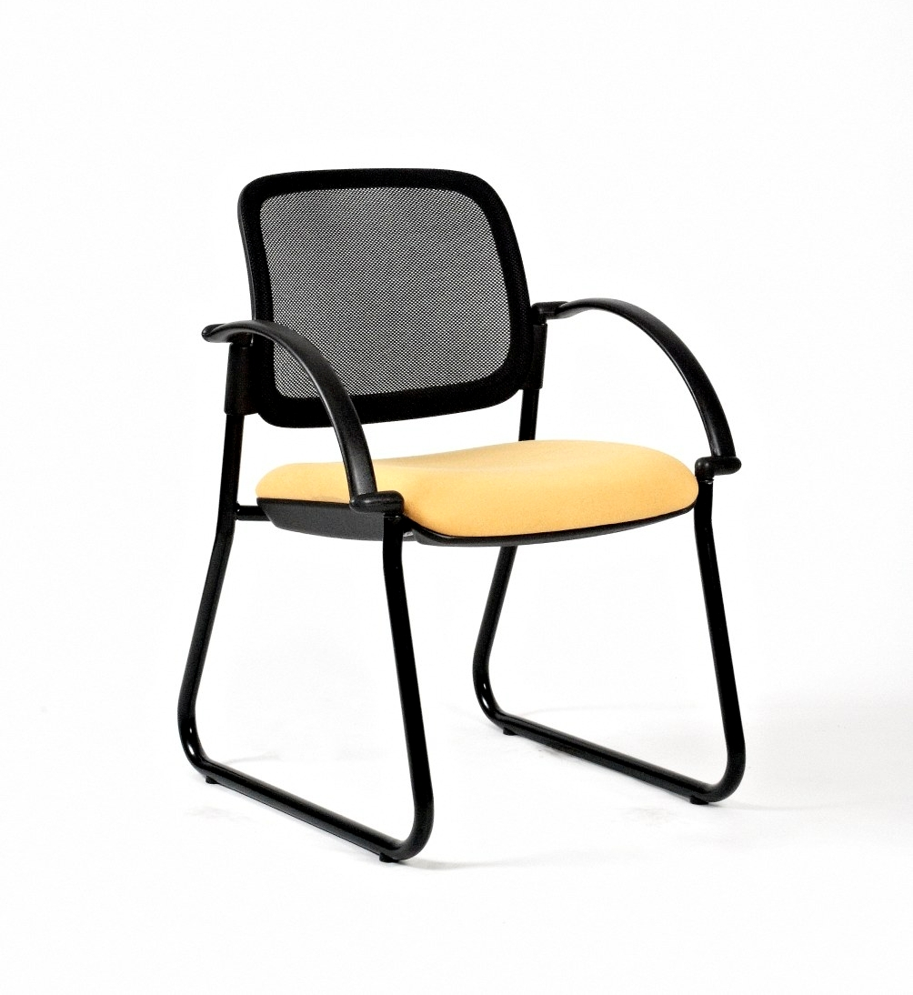 Titan Mesh Sleigh Arm Chair