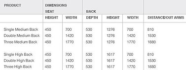 Versis High Back Sofa Dimensions