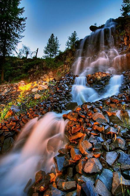 The Falls at Hayden Lake Waterfall