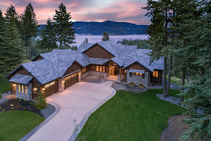 Black Rock Luxury Estate with CDA Lake Views