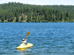 Kayaking Lake Coeur d'Alene