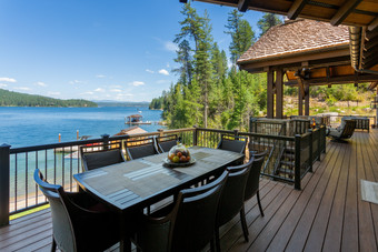 Outdoor Dining Table Overlooks Mica Bay