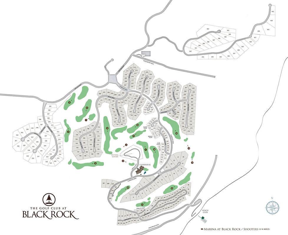 The Golf Club at Black Rock Propety Map