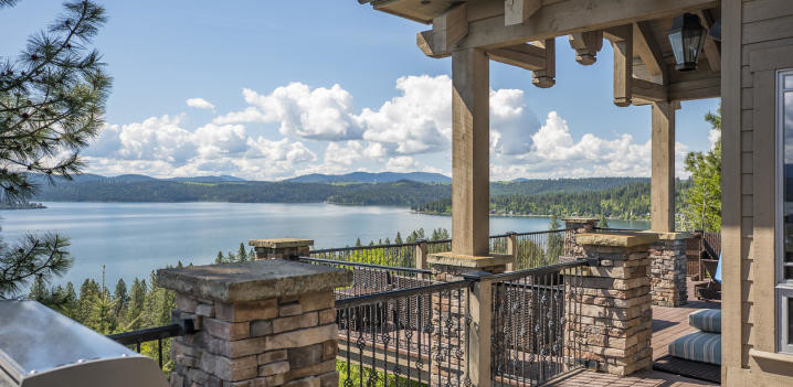 Epic CDA Lake Views from this Black Rock Home