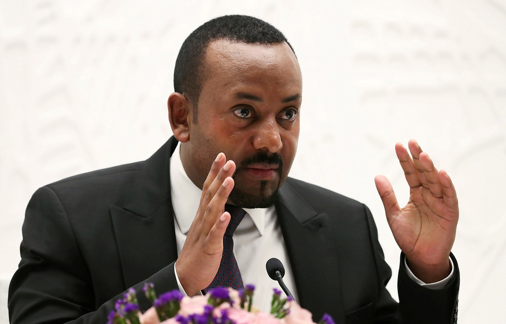 Abiy Ahmed in Addis Ababa, Ethiopia
