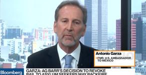 Ambassador Garza: Barr's decision on asylum bail may backfire