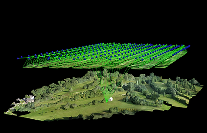 Drone topographical land survey of golf course. Drone Tech Aerospace conduct drone topographical land surveys throghout the United Kingdom, UK, including Bath, Birmingham, Bristol, Cardiff, Leeds, Liverpool, London, Manchester, Newport, Southampton, Swansea, Wales