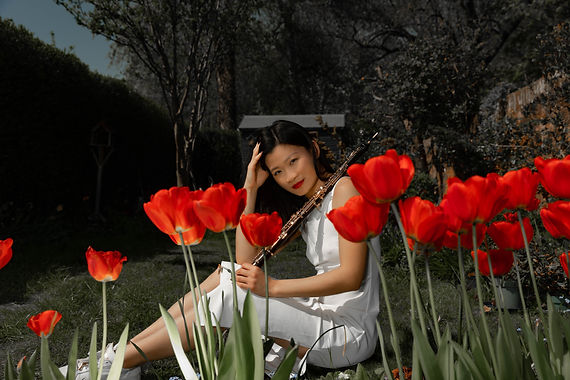 Bernice and tulips (1 of 1).jpg