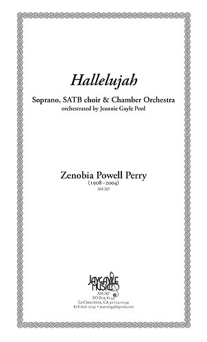 Hallelujah for soprano solo, SATB chorus and chamber orchestra