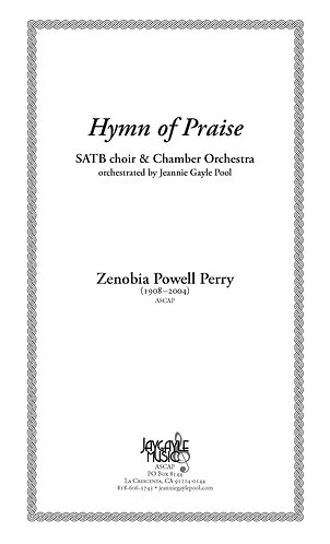 Hymn of Praise, SATB chorus and strings