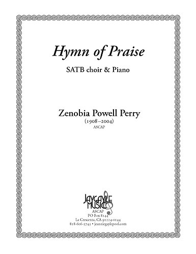 Hymn of Praise, SATB chorus and piano