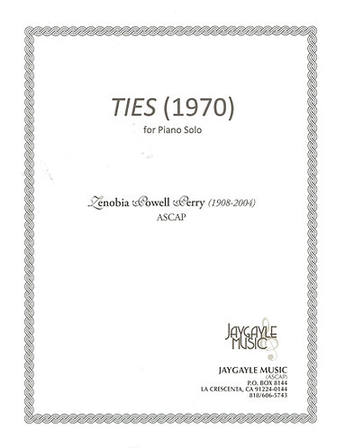 Ties (1970) for piano solo