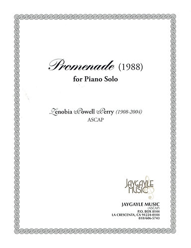 Promenade (1988) for piano solo