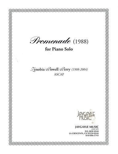 Promenade (1988) for piano solo