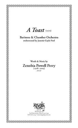 A Toast (1970) for baritone and piano