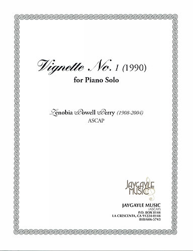 Vignette No. 1 (1990) for solo piano by Zenobia Powell Perry