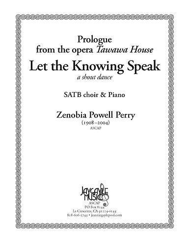 Let the Knowing Speak for SATB and piano