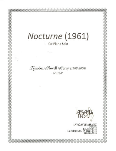 Nocturne (1961) for piano solo