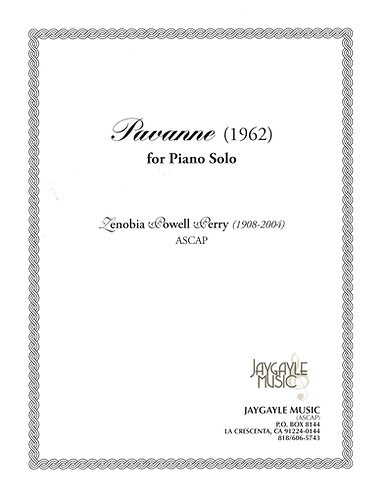 Pavanne (1962) for piano solo by Zenobia Powell Perry