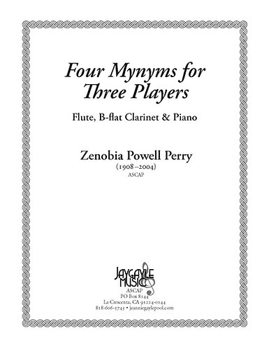 Four Mynyms for Three Players for flute, clarinet, and piano