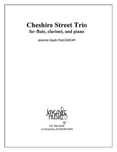 Cheshire Street Trio by Jeannie Gayle Pool PDF
