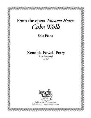 Cake Walk (1985) for piano solo from opera Tawawa House PDF
