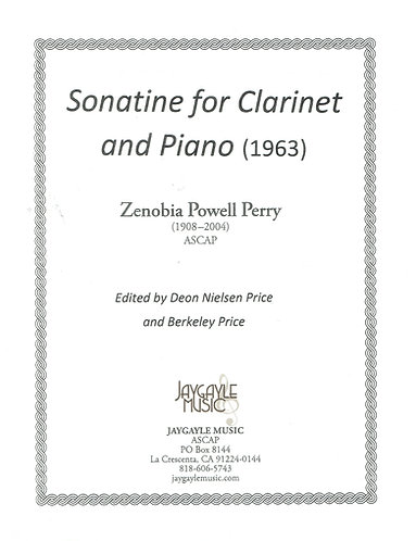 Sonatine for clarinet and piano by Zenobia Powell Perry