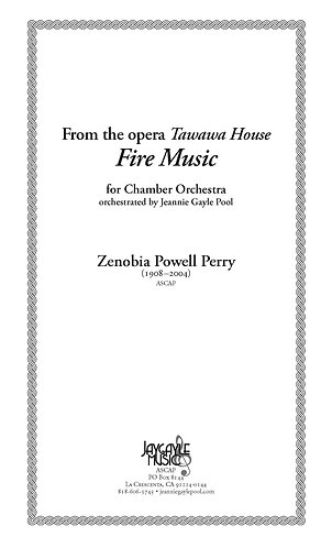 Fire Music from Tawawa House for chamber orchestra