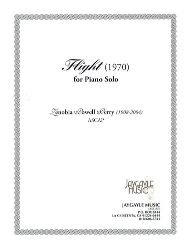 Flight (1970) for piano solo