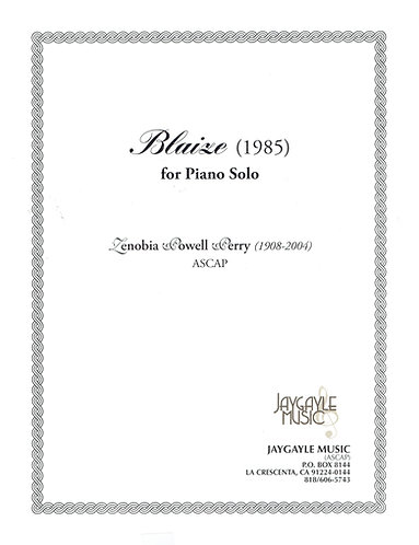 Blaise (1985) for piano solo by Zenobia Powell Perry PDF