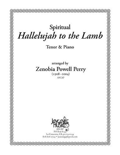 Hallelujah to the Lamb for tenor and piano