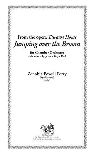 Jumping Over the Broom for chamber orchestra