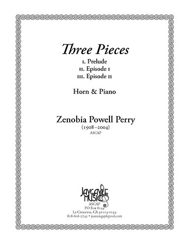 Three Pieces for Horn and Piano