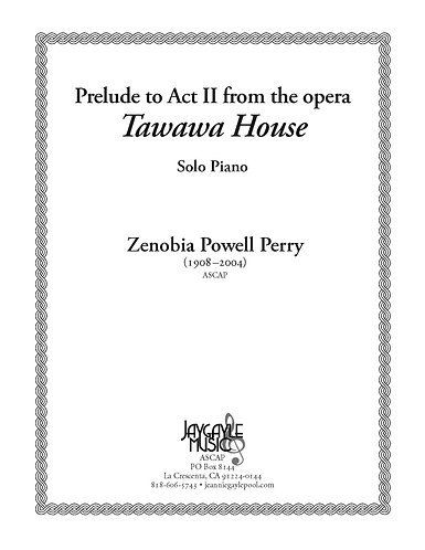 Prelude to Act II from the opera Tawawa House (1985) for piano solo