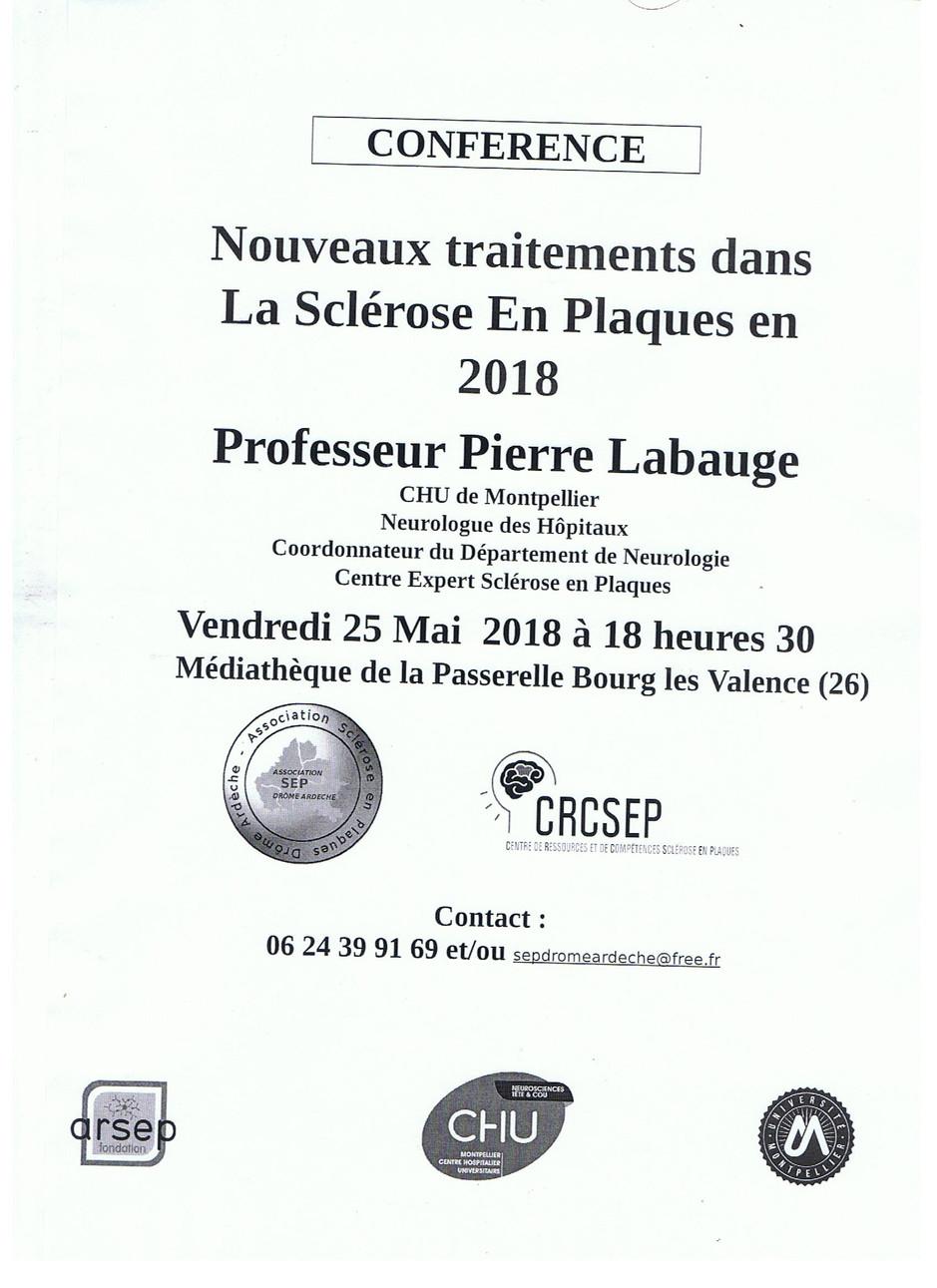 Conférence sur les nouveaux traitements sur la Sclérose en plaques