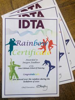 IDTA rainbow certificate