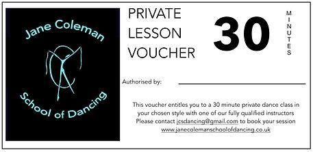 Private Dance Lesson Gift Voucher